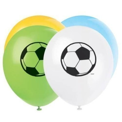 Football themed latex balloons