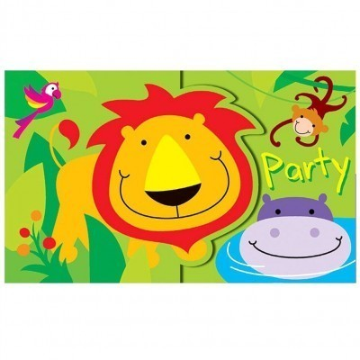 Jungle themed party invitations