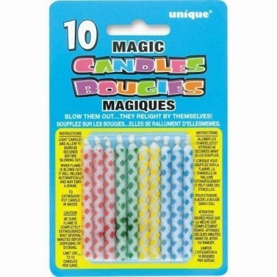 Magic birthday candles