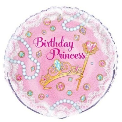 Princess themed helium balloon