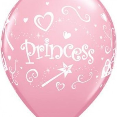 Princess themed latex balloons.