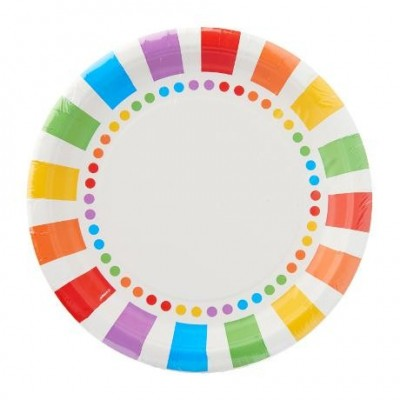 Rainbow themed tableware