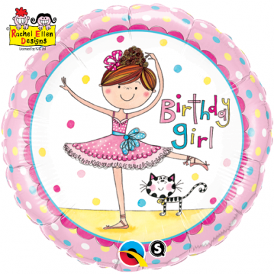 Ballerina themed helium balloon