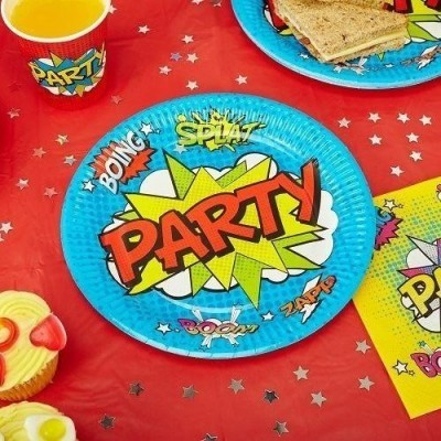 Superhero themed tableware