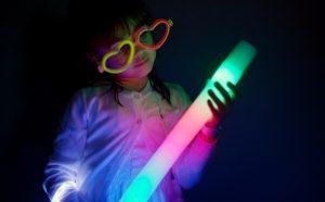 Glow in the dark kids party theme