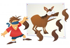 Pin the donkey children's party game