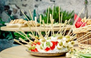 Party hedgehog (food on a toothpick)