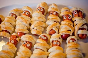 Pigs in a blanket for a kids party