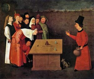 The Conjurer is by Early Netherlandish