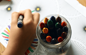 Drawing as a kids wedding activity
