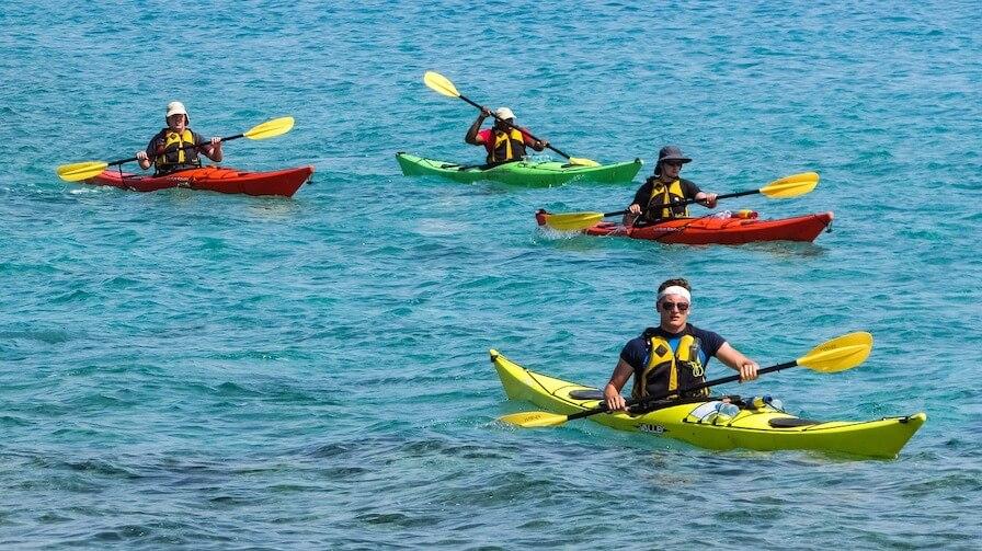 team bonding kayak activity